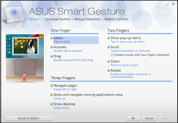 asus smart gesture failed to load image files
