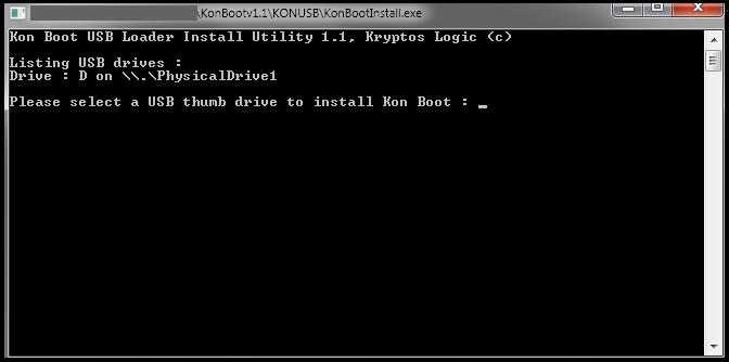 kon boot windows 8 usb