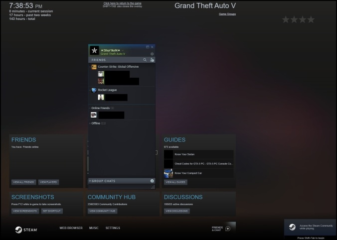 Fix: Steam Overlay/Screenshots Not Working [Including GTAV