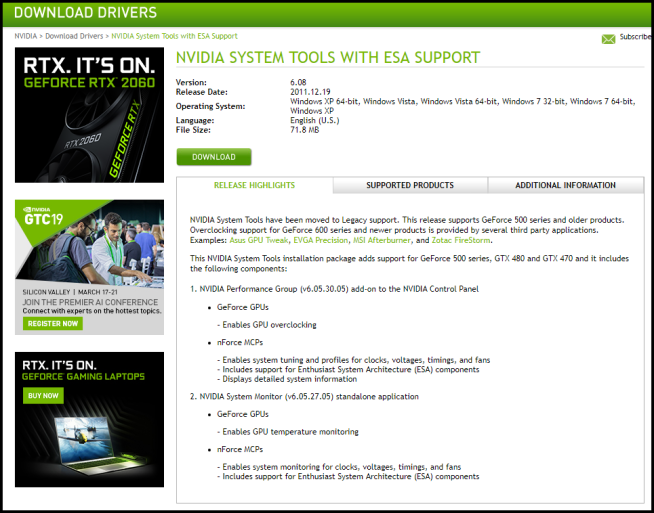 How To: Bring Back the Performance Tab in the NVIDIA Control